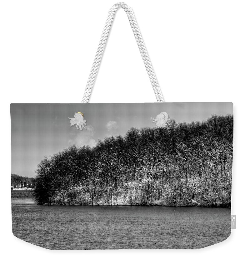 Fox River Weekender Tote Bag featuring the photograph Scenic Morning On The Fox River by Thomas Young