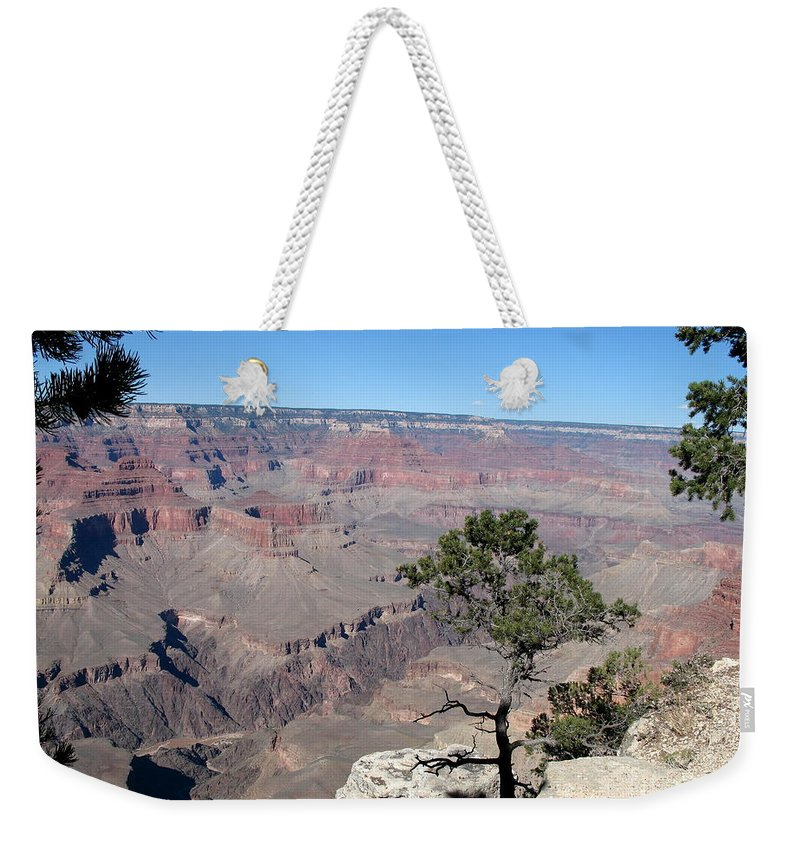 Grand Canyon Weekender Tote Bag featuring the photograph Scenic View - Grand Canyon by Christiane Schulze Art And Photography