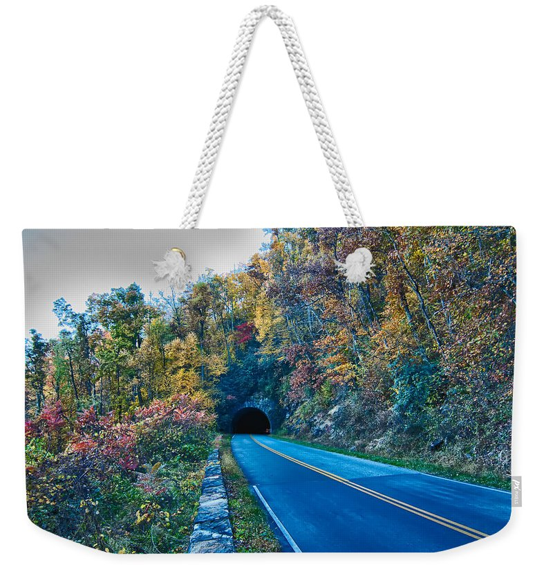 Scenics Weekender Tote Bag featuring the photograph Scenics Around Blue Ridge Parkway North Carolina by Alex Grichenko