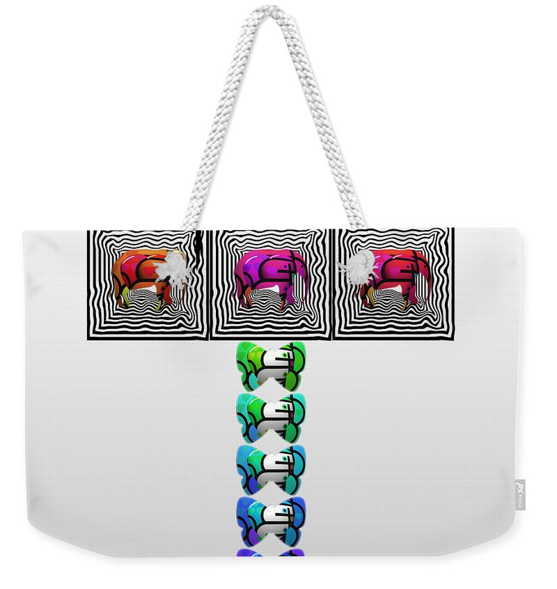 Elephant Weekender Tote Bag featuring the painting Sceptre by Charles Stuart