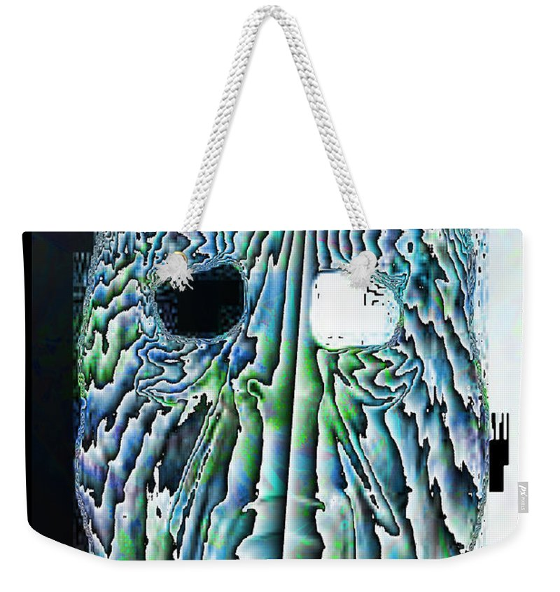 Abstract Weekender Tote Bag featuring the digital art Schism by Jack Bowman