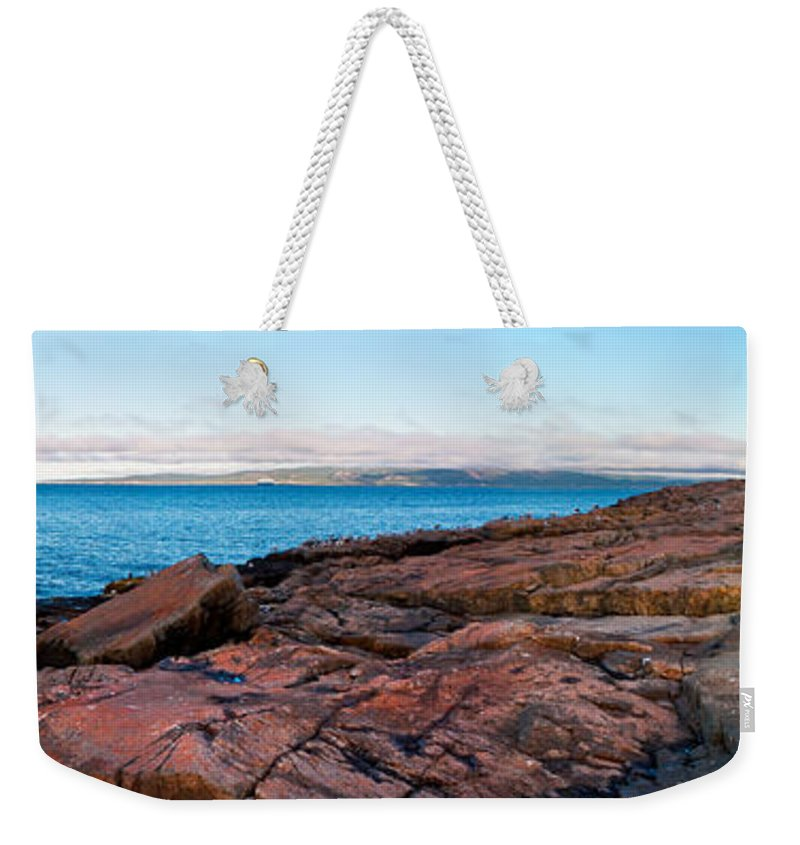 Acadia National Park Weekender Tote Bag featuring the photograph Schoodic Point 8414 by Brent L Ander