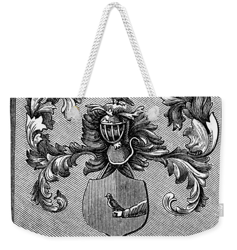 1876 Weekender Tote Bag featuring the painting Schuyler Family Arms by Granger