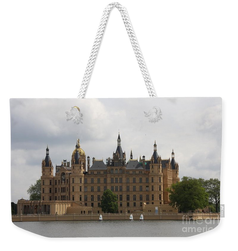 Schwerin Weekender Tote Bag featuring the photograph Schwerin Castle Front Aspect by Christiane Schulze Art And Photography