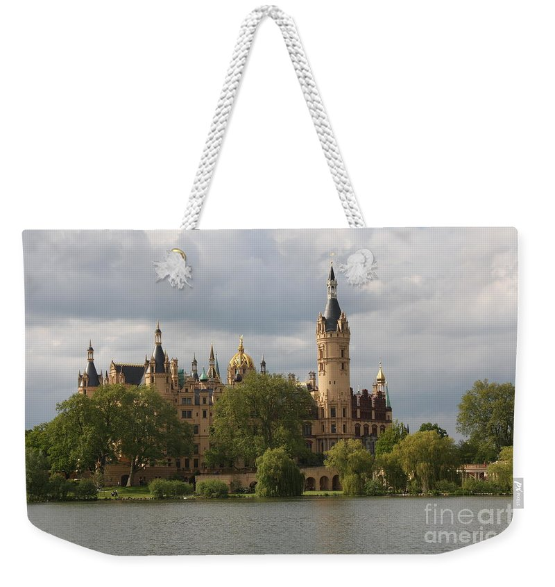 Schwerin Weekender Tote Bag featuring the photograph Schwerin Palace - Germany by Christiane Schulze Art And Photography