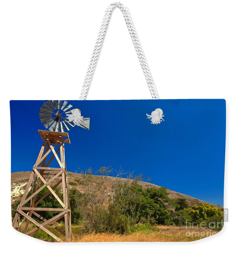 Scorpion Ranch Weekender Tote Bag featuring the photograph Scorpion Windmill by Adam Jewell