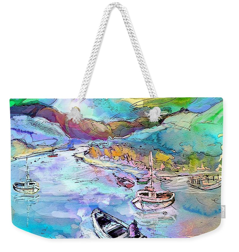 Scotland Weekender Tote Bag featuring the painting Scotland 24 by Miki De Goodaboom