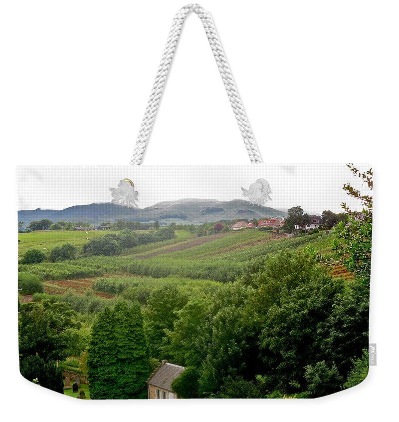Scotland Weekender Tote Bag featuring the photograph Scottish Countryside by Denise Mazzocco