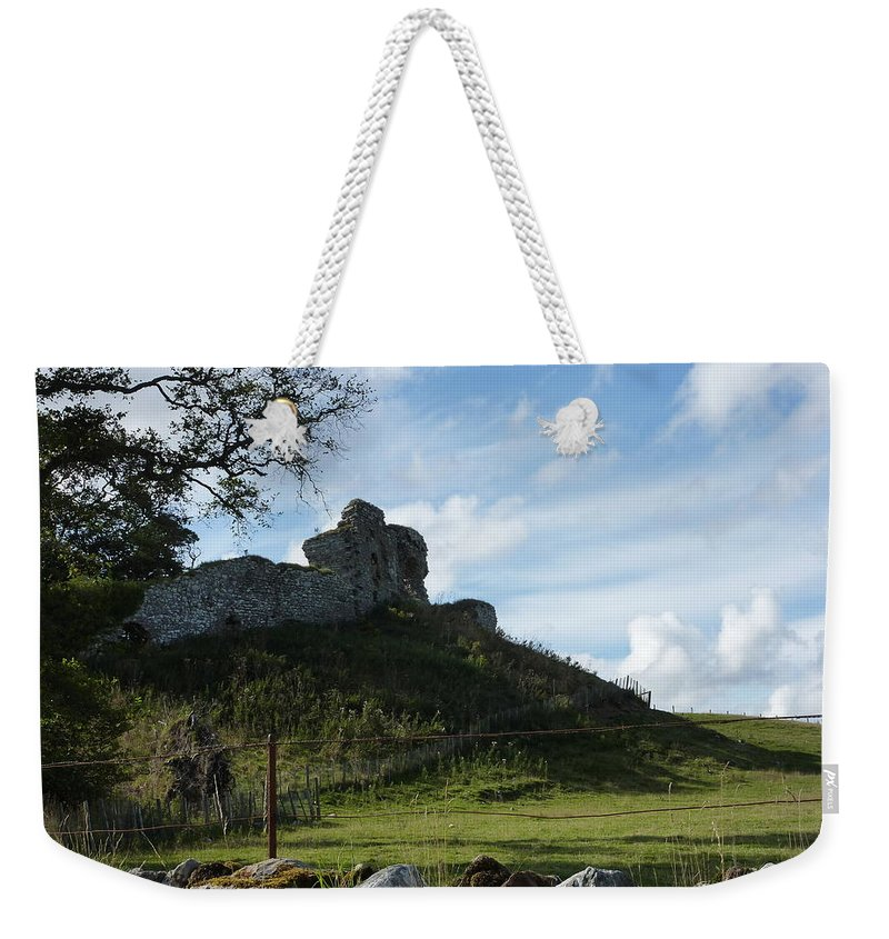 Scotland Weekender Tote Bag featuring the photograph Scottish Castle Ruins by Diane Palmer