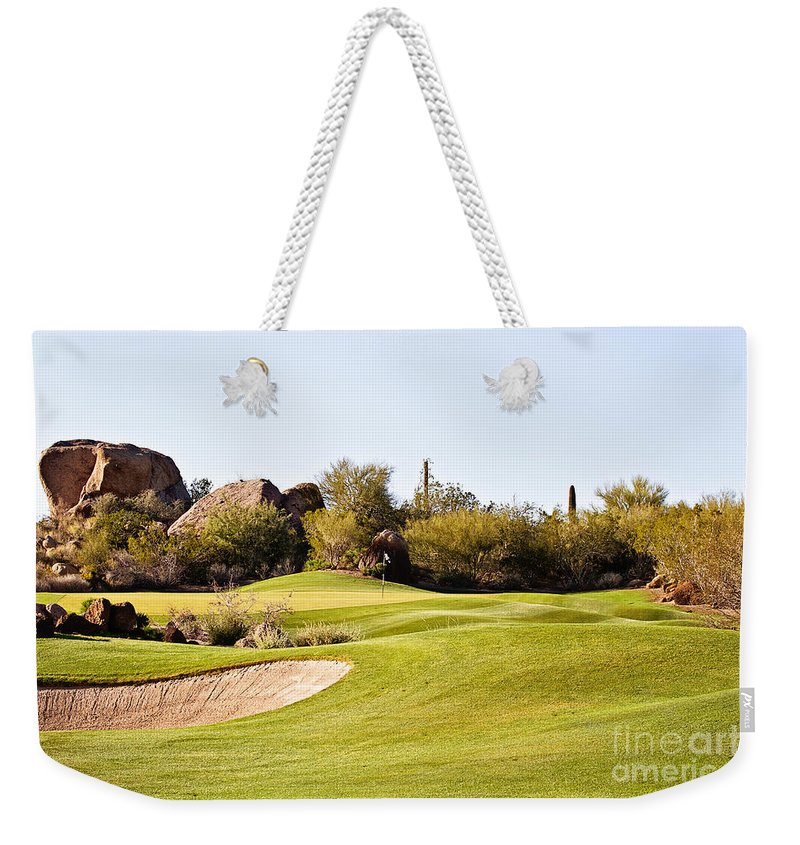 Troon Weekender Tote Bag featuring the photograph Scottsdale Golf by Scott Pellegrin
