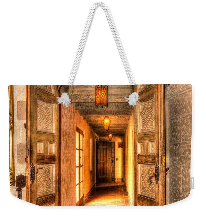 Architecture Weekender Tote Bag featuring the photograph Scotty's Castle by Heidi Smith