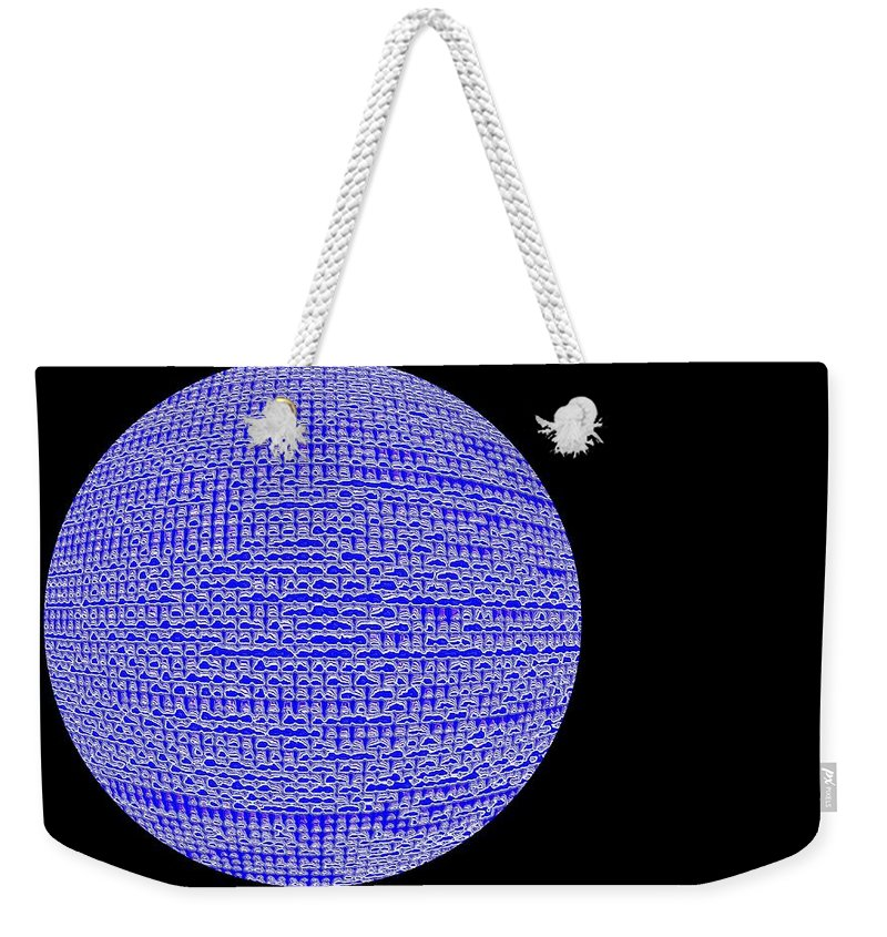 Window Weekender Tote Bag featuring the photograph Screen Orb-05 by Larry Jost