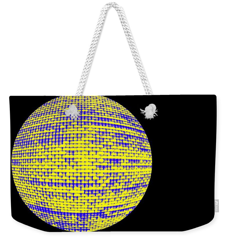 Window Weekender Tote Bag featuring the photograph Screen Orb-10 by Larry Jost