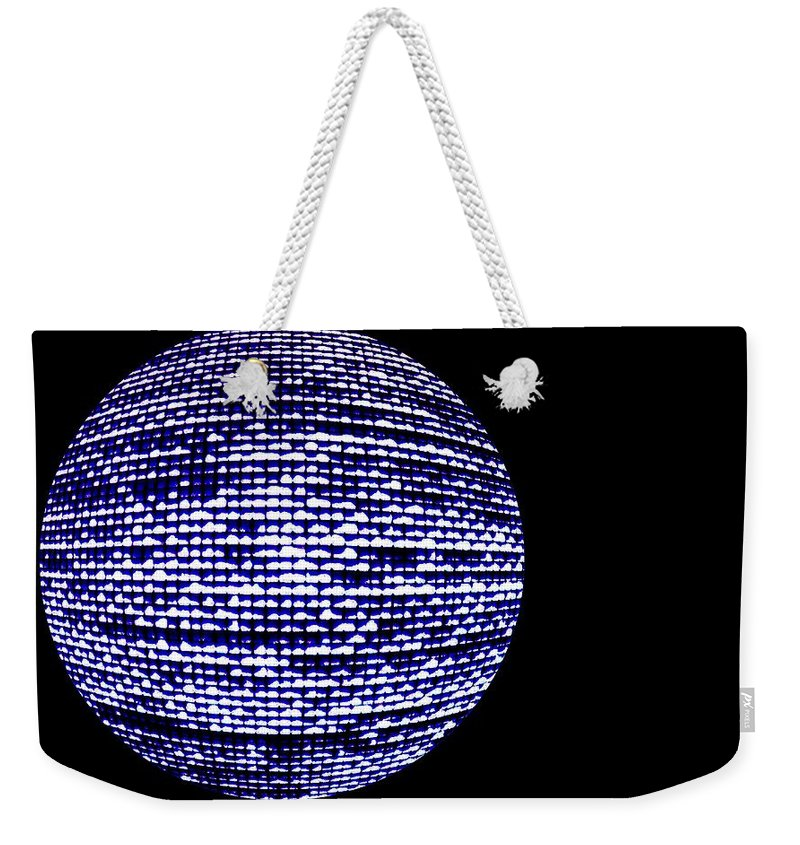 Window Weekender Tote Bag featuring the photograph Screen Orb-11 by Larry Jost