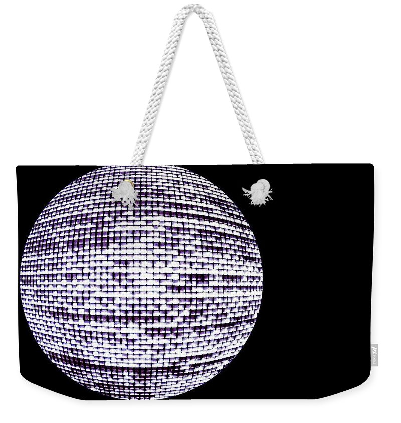 Window Weekender Tote Bag featuring the photograph Screen Orb-14 by Larry Jost