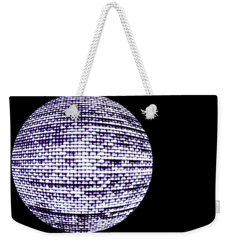 Window Weekender Tote Bag featuring the photograph Screen Orb-15 by Larry Jost