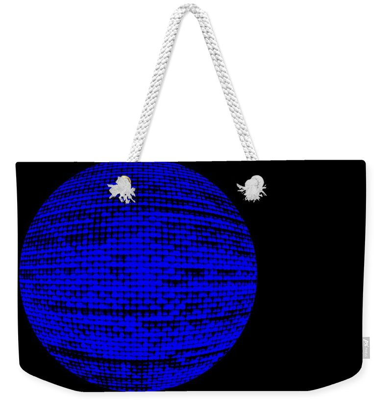 Window Weekender Tote Bag featuring the photograph Screen Orb-22 by Larry Jost