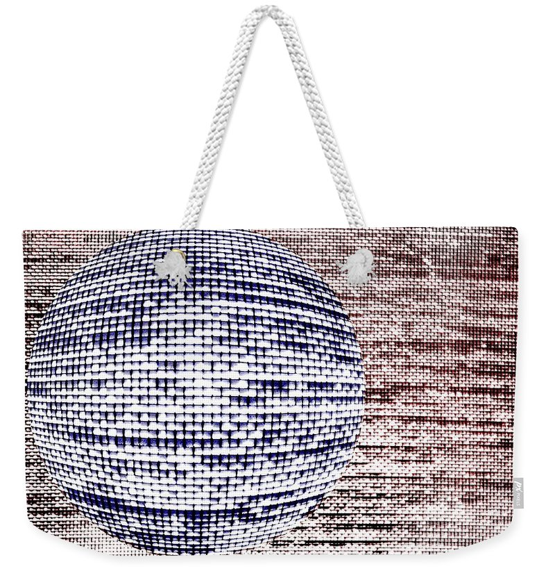 Window Weekender Tote Bag featuring the photograph Screen Orb-33 by Larry Jost