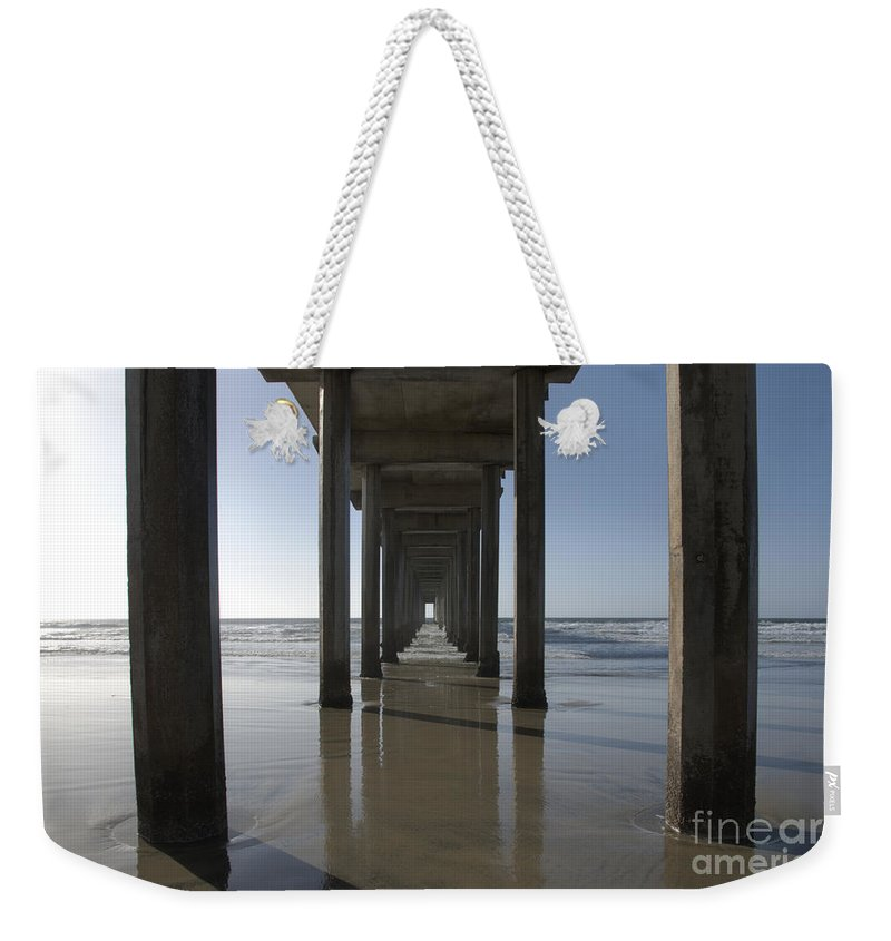 San Diego Weekender Tote Bag featuring the photograph Scripps Pierla Jolla California by Bob Christopher