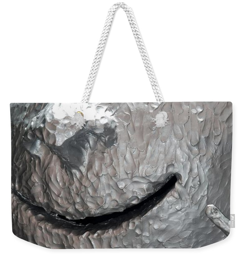 Sculptures Weekender Tote Bag featuring the photograph Sculp Face by Rob Hans