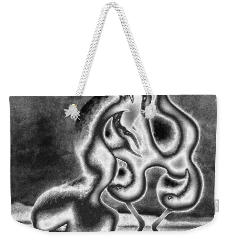 Genio Weekender Tote Bag featuring the mixed media Sculpture Of Passion by Genio GgXpress