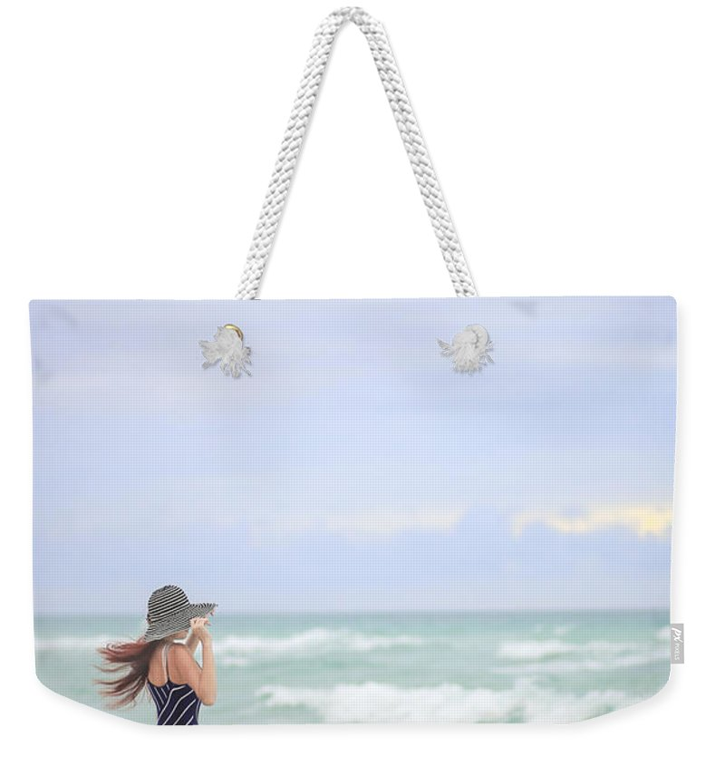 Woman Weekender Tote Bag featuring the photograph Sea Breeze by Evelina Kremsdorf