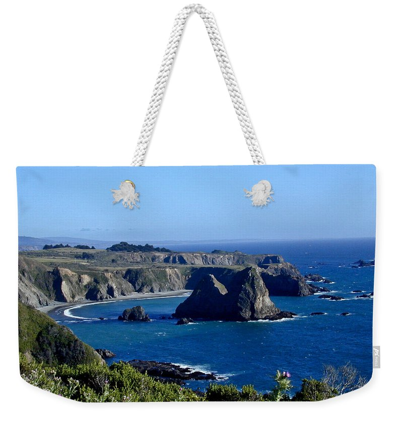 Sea Weekender Tote Bag featuring the photograph Sea Coast Of Northern California by Douglas Barnett