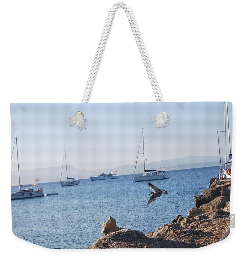 Sea Gull Weekender Tote Bag featuring the photograph Sea Gull 2 by George Katechis