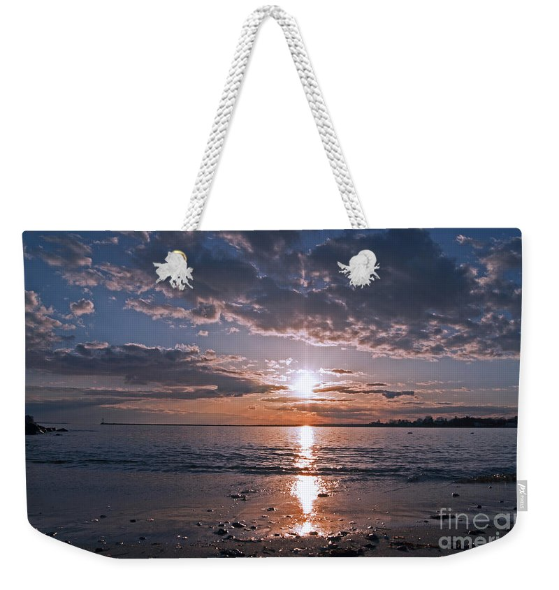 Beach Weekender Tote Bag featuring the photograph Sea Level by Joe Geraci