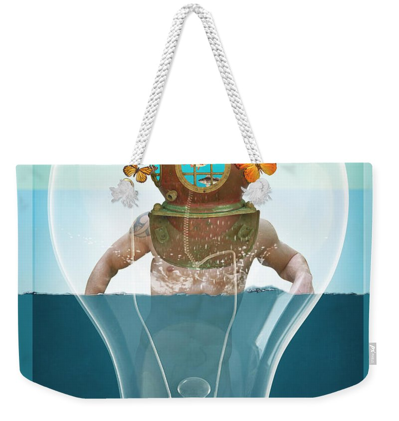 Octopus Weekender Tote Bag featuring the digital art Sea Life by Mark Ashkenazi