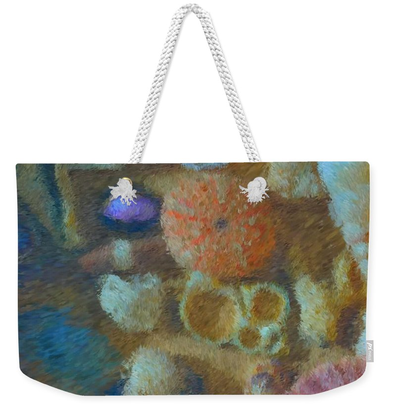 Sea Shells Weekender Tote Bag featuring the mixed media Sea Shells by Tom Druin