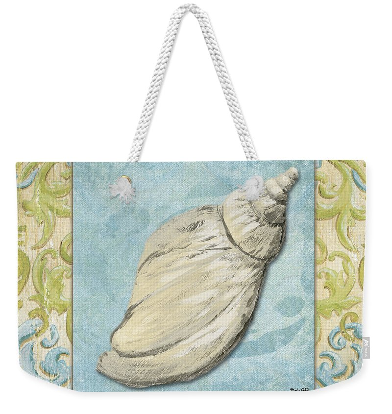 Bath Weekender Tote Bag featuring the painting Sea Spa Bath 2 by Debbie DeWitt