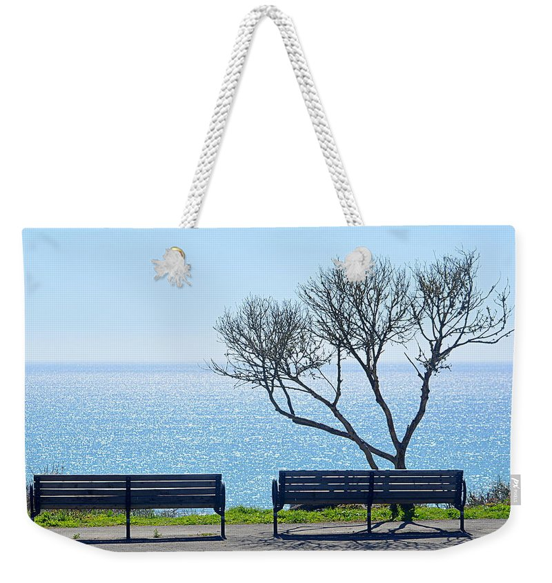 Scenic Weekender Tote Bag featuring the photograph Sea View by AJ Schibig