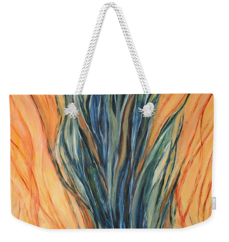 Seagrass Weekender Tote Bag featuring the painting Seagrass Sold by Christiane Schulze Art And Photography