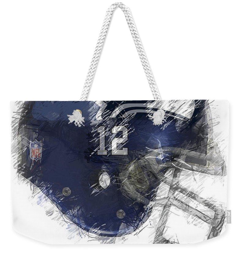 Seahawks Weekender Tote Bag featuring the digital art Seahawks 12 by Daniel Hagerman