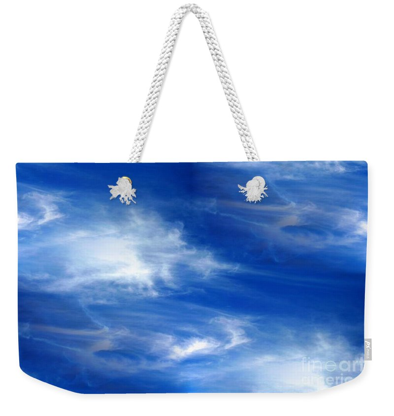 Seamless Weekender Tote Bag featuring the photograph Seamless Background Sky by Henrik Lehnerer