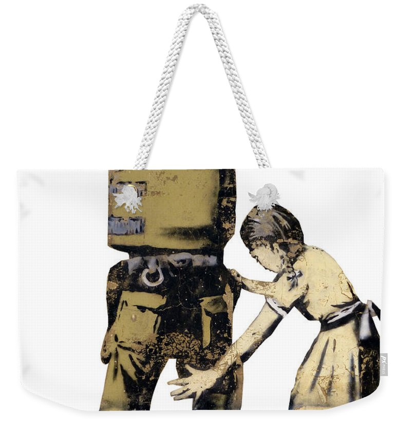 Peace Weekender Tote Bag featuring the photograph Searching A Minor by Munir Alawi