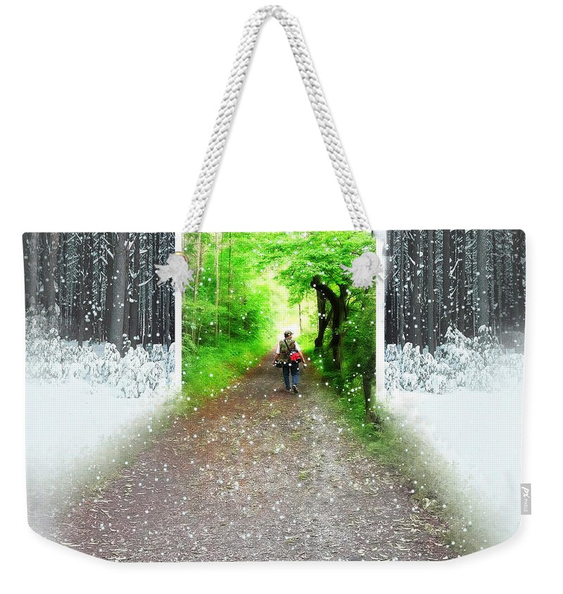 Spring Time Weekender Tote Bag featuring the photograph Searching Better Weather by Gravityx9 Designs