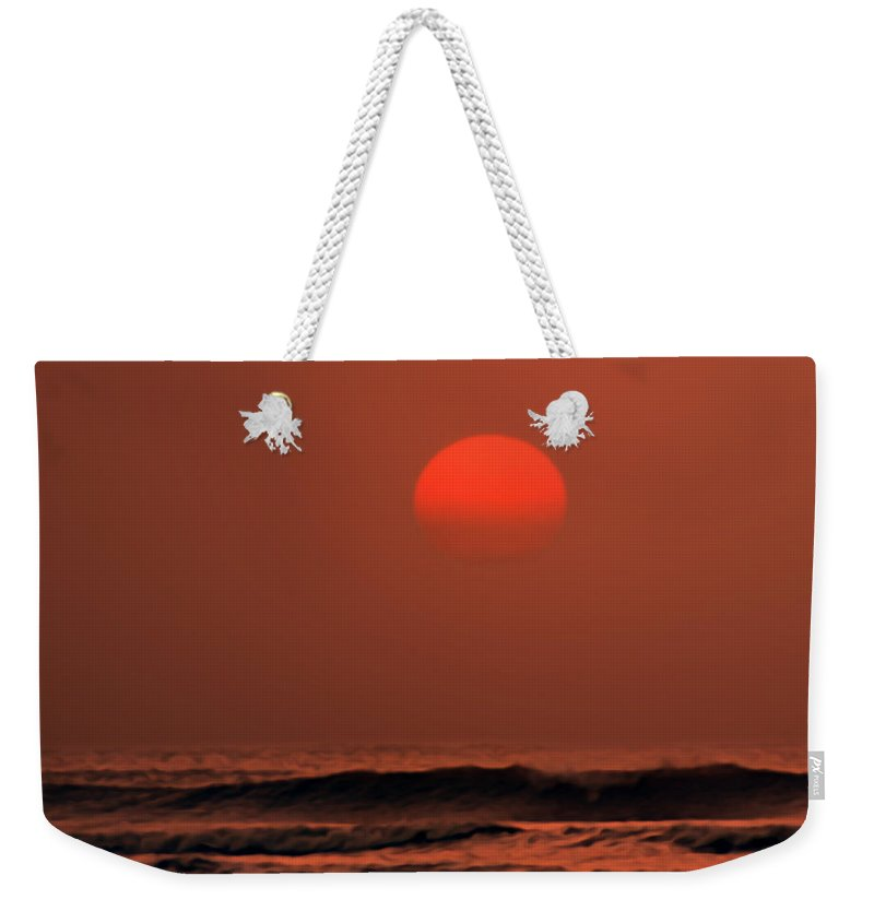 Ocean Weekender Tote Bag featuring the photograph Searenity by Carlos Vieira