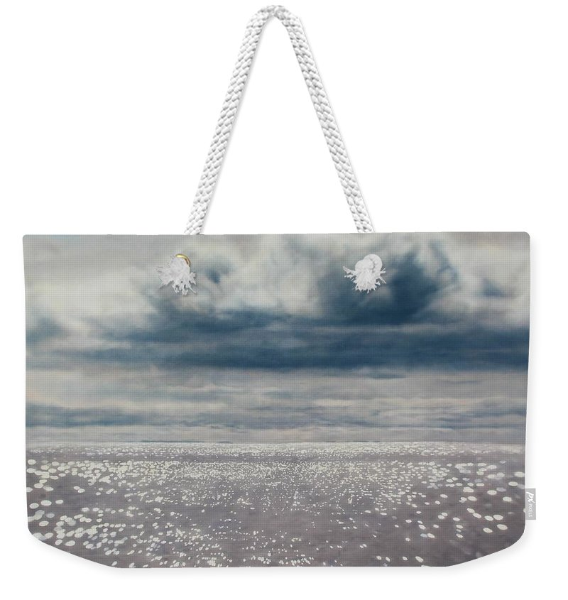Sea Weekender Tote Bag featuring the painting Seascape 160 X 120 by Thomas Darnell