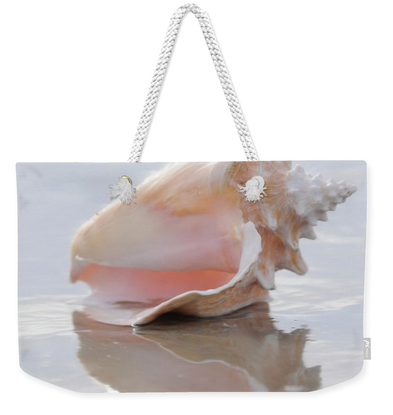 Seashell Art Weekender Tote Bag featuring the digital art Seashell Be Still by Constance Woods