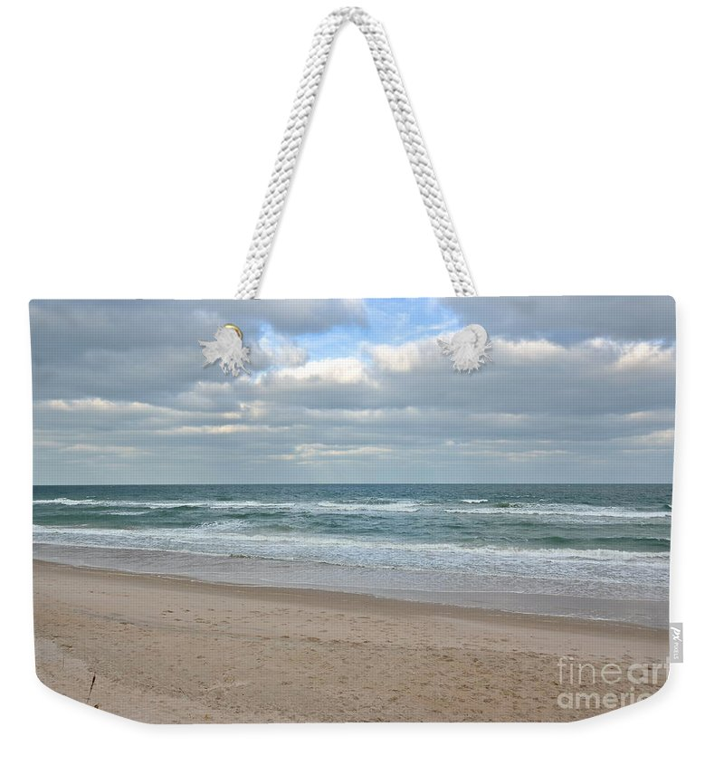 Beach Weekender Tote Bag featuring the photograph Seashore by Carol Bradley
