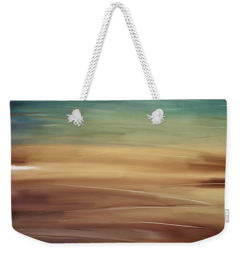 Seascapes Abstract Weekender Tote Bag featuring the digital art Seaside by Lourry Legarde
