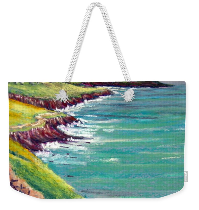 Marsh Weekender Tote Bag featuring the painting Seaside Path by Julia Rietz