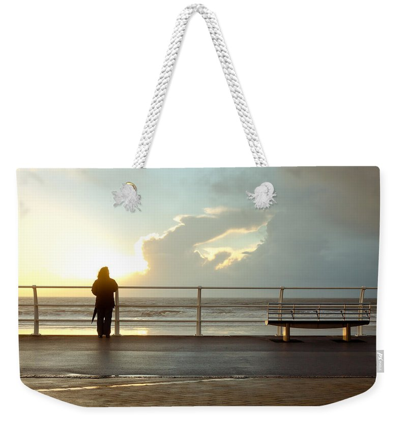 Aberavon Weekender Tote Bag featuring the photograph Seaside Person by Tom Gowanlock