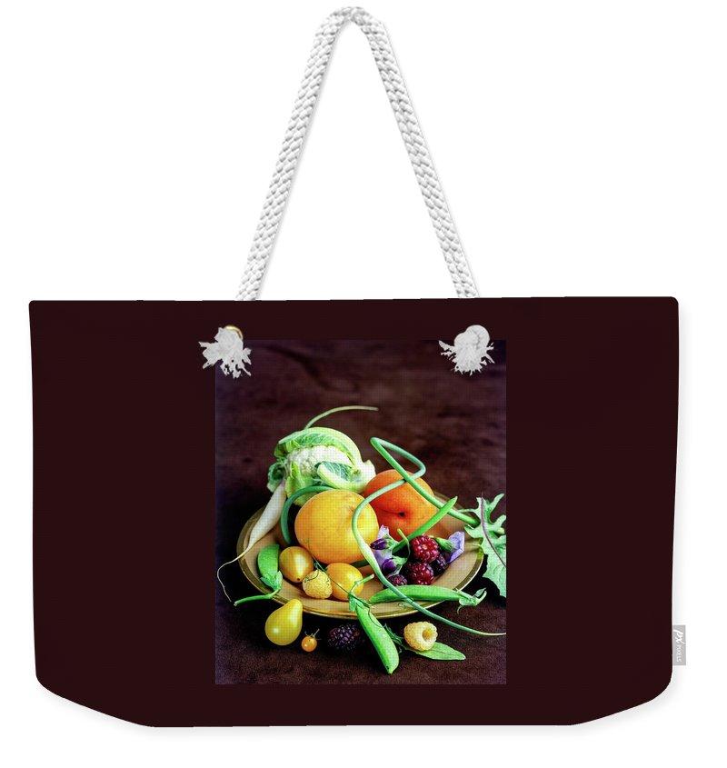 Seasonal Fruit And Vegetables Weekender Tote Bag