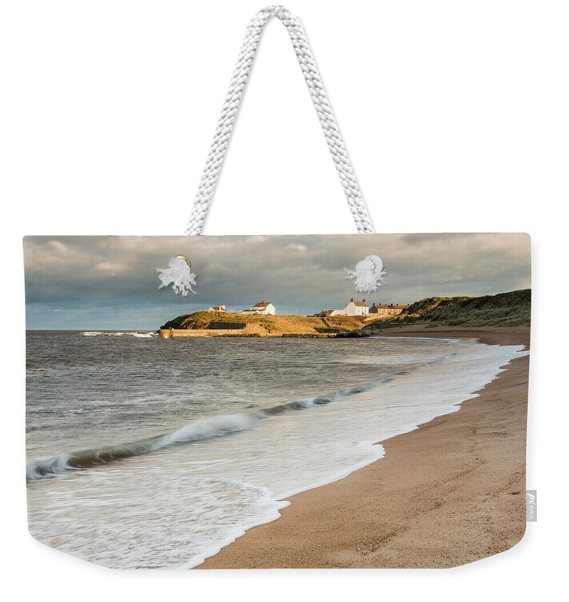 Northumberland Weekender Tote Bag featuring the photograph Seaton Sluice  by David Head