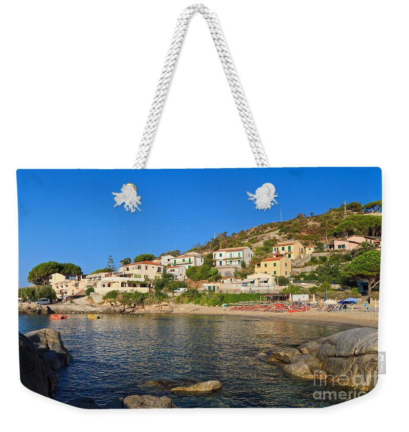 Tuscany Weekender Tote Bag featuring the photograph Seccheto - Elba Island by Antonio Scarpi