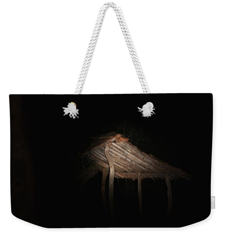 Hut Weekender Tote Bag featuring the photograph Secluded Hut by Ramabhadran Thirupattur
