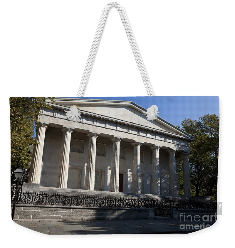 Second Bank Of The United States Weekender Tote Bag featuring the photograph Second Bank Of The United States by Jason O Watson